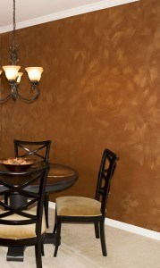 Copper Metallic Detail - decorative finish painted by Ashley Spencer