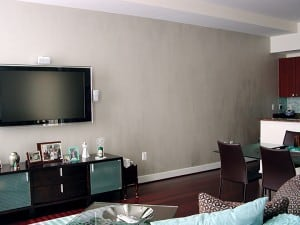 Brushed-on Metallic Wallfinish by Ashley Spencer