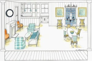 Illustrated Layout for Roger Christopher Interior Design