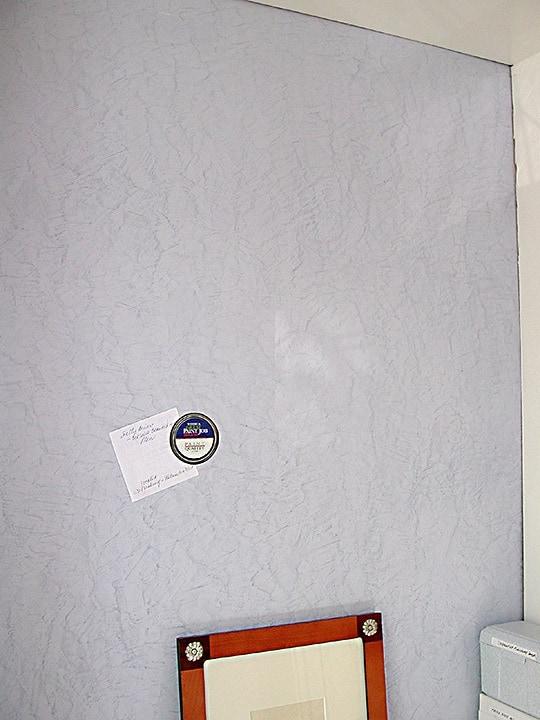 Office Magnetized Venetian Plaster by Ashley Spencer