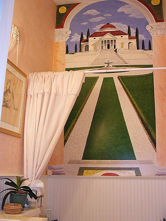 Palladian Villa Mural-Full view by Ashley Spencer