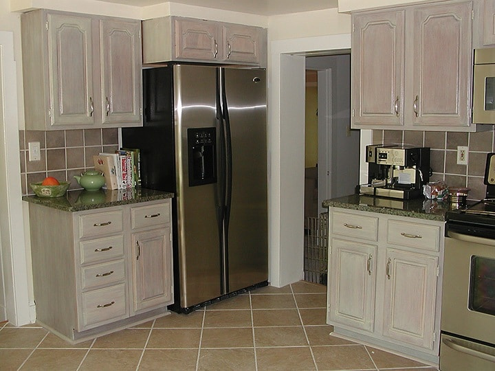 Whitewashed Kitchen Cabinets Finishes Ashley Spencer - Whitewash kitchen cabinets