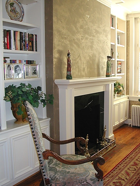LusterStone Living Room Fireplace Wall by Ashley Spencer