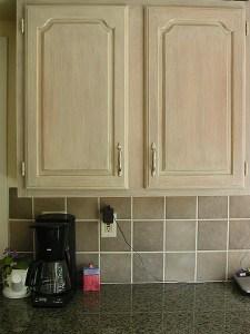 Whitewashed kitchen cabinet doors by Ashley Spencer