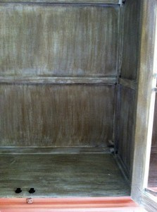 Cabinet Interior Before Decorative Finish, Close Up Finish, Furniture, Finishes, Ashley Spencer
