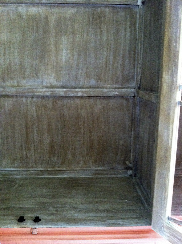 Cabinet Interior Before Decorative Finish, Close Up Finish, Furniture, Finishes, Ashley Spencer