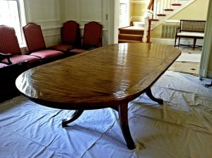 Dining Room Table Before Decorative Treatment, Furniture, Ashley Spencer