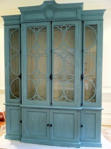 Armoire After Decorative Painting with Hand Rubbed Tinted Wax