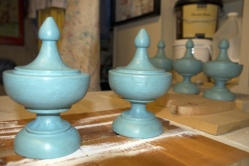 Finials After Decorative Paint Treatment, Finials, Furniture, Ashley Spencer