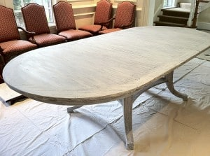 Dining Room Table After Pickling Treatment, Furniture, Ashley Spencer