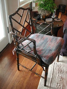 Bamboo Chair After--Painted Black Impervo with Gold Highlights, Furniture, Finishes, Before and After Transformations, Ashley Spencer