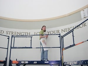 Painting 36 foot long quote