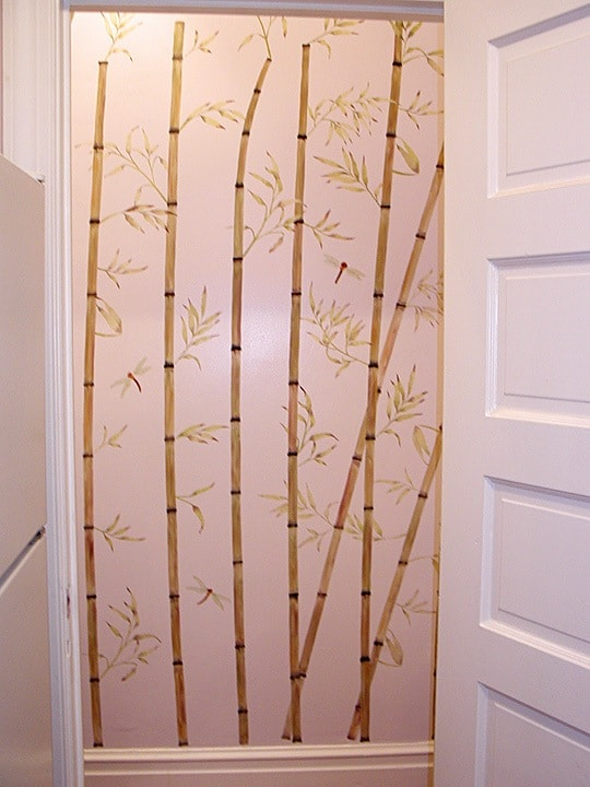 Stenciled Bamboo