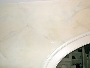 Hairline Crack in Faux Marble Needs Repair