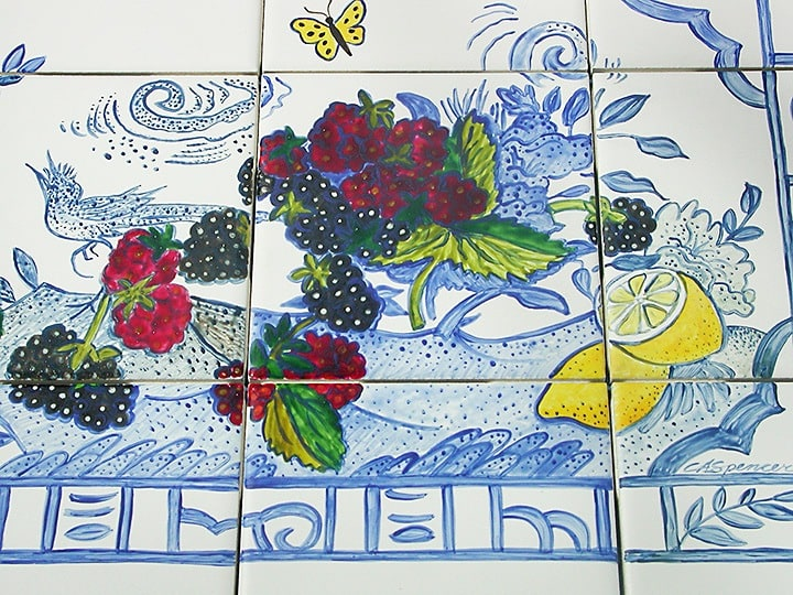 Close Up Mural, mural, Fine Art, Ashley Spencer, Tile China Scene--Cooktop Backsplash,