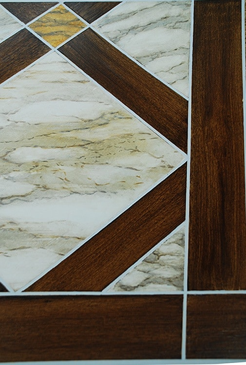 Faux Bois and Marble Detail - Sample Finish painted by Ashley Spencer