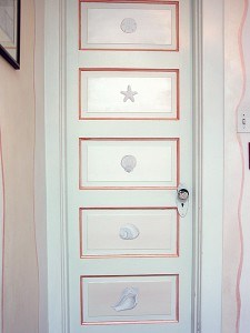 Faux Plaster Shell Door