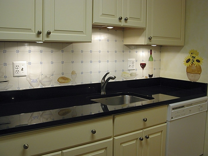 French Elements Mural After painted in Kitchen by Ashley