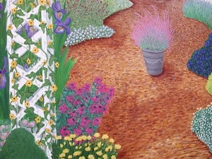 Garden Mural Detail, Murals painted by Ashley Spencer