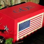 Personalized Painted Patriotic Chest