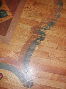 Floor Design is Showing Wear and Tear