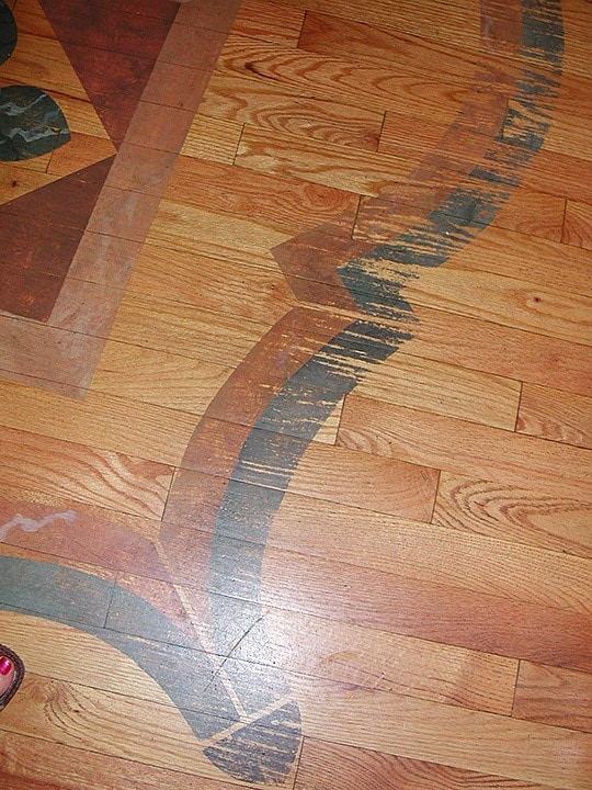 Floor Design is Showing Wear and Tear, Finishes, Floor Finish, Repair & Restoration, Before, Ashley Spencer