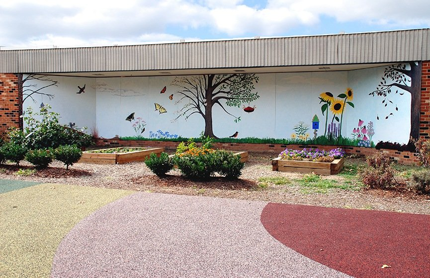 Jefferson Houston School Mural Installed, murals, Public Art, Ashley Spencer