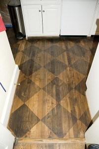 Before - worn Floor Harlequin - Ashley Spencer