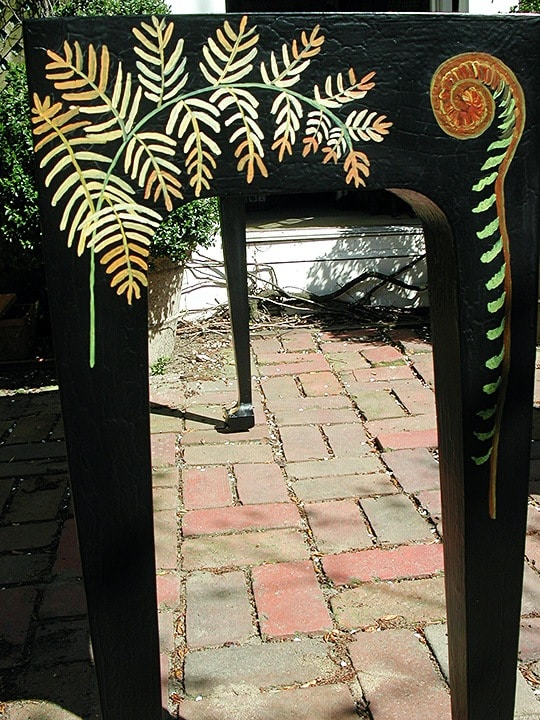 Side Painted Console Table Detail by Ashley Spencer