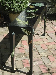 Custom Handpainted Console Table by Ashley Spencer