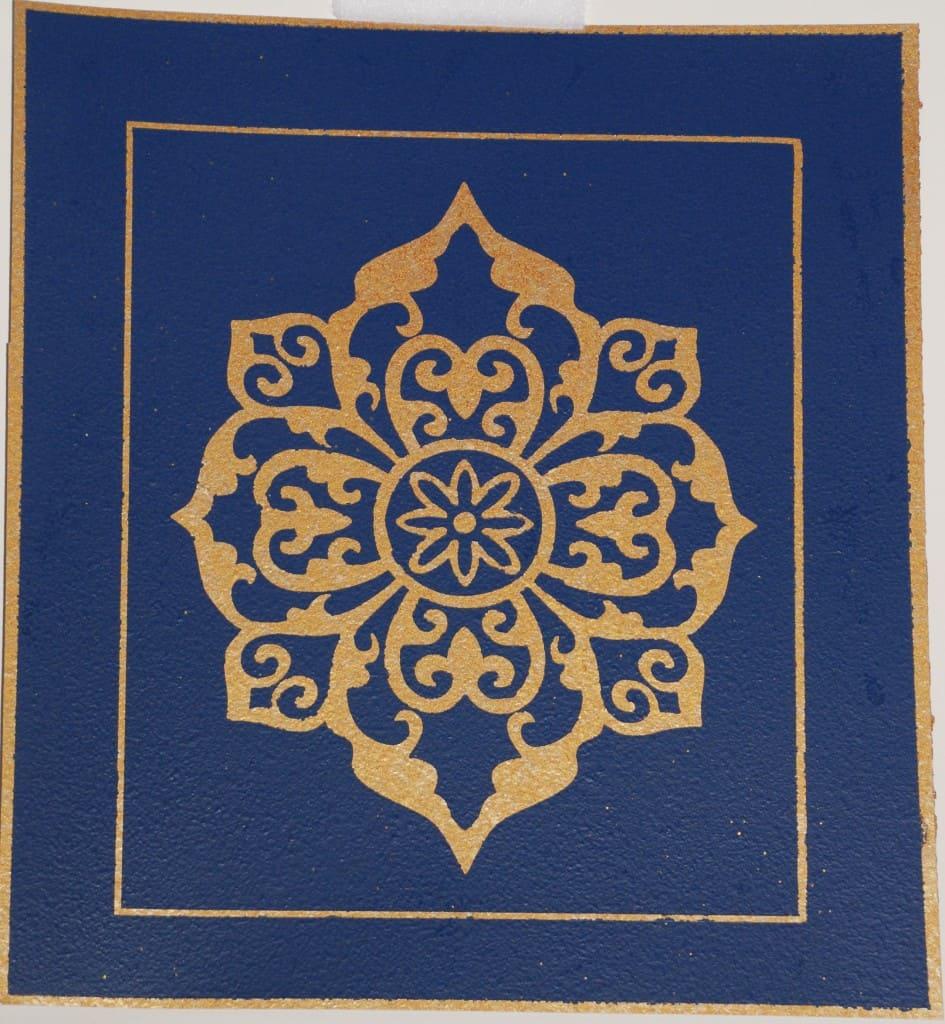 Faux Lapis Lazuli with Metallic Modello Pattern