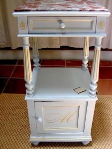 Heirloom Table After Custom Gustavian Finish