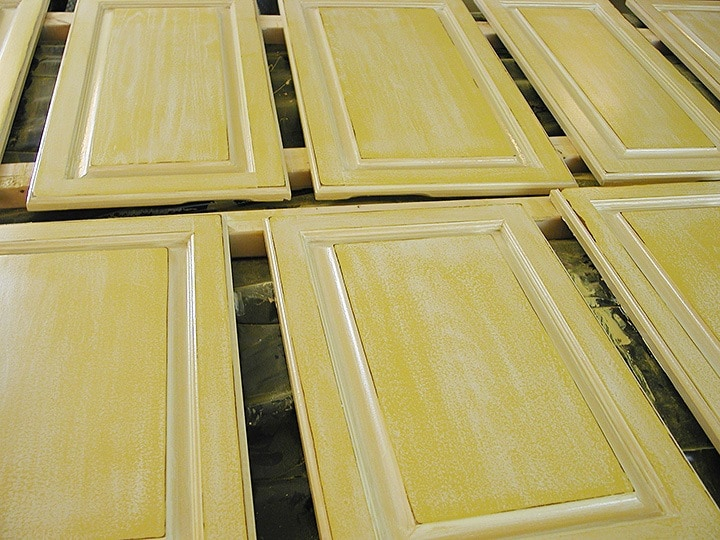 French Country Glazed Kitchen Doors Detail by Ashley Spencer