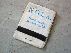 Trompe l'Oeil N.O.L.A. Matchbook, Faux House, Trompe l'Oeil, Ashley Spencer