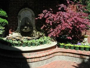 Faux Flagstone for Alexandria Garden and Home Tour by Ashley Spencer