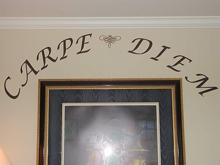 Carpe Diem, Alexandria Showhouse 2006, Mural, Lettering & Accents