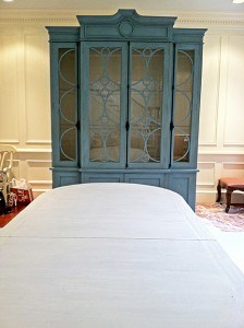 Chalk Painted Armoire and Pickled Table