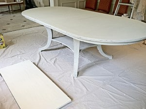 Pickled Painted Table. See Furniture page for more pictures, finishes, close up finishes, Ashley Spencer