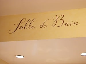Salle de Bain Lettering Detail painted by Ashley Spencer
