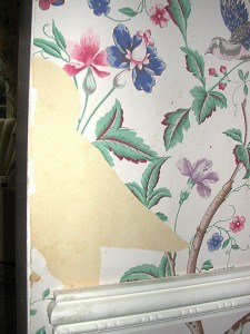 Wallpaper Needs Repair, Finishes, Repair & Restoration, Ashley Spencer, Before, Wallpaper, Semmes,