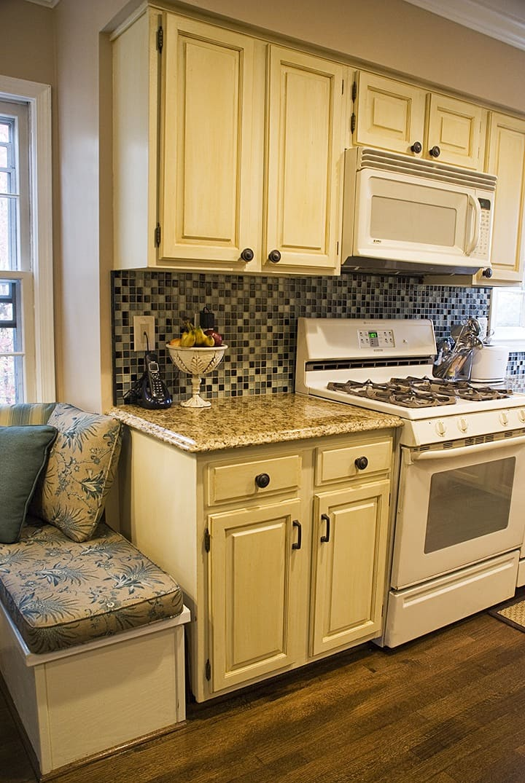 Glazed Kitchen Cabinets by Ashley Spencer