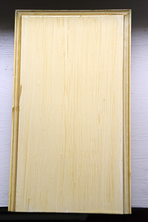 Glazed Kitchen Cabinet Finish -  Sample Closeup by Ashley Spencer