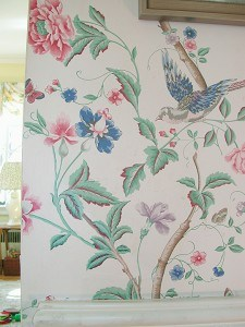 Handpainting Creates Seemless Wallpaper Repair, mural, Before and After Transformations, Ashley Spencer, Finishes, Repair & Restoration, Ashley Spencer