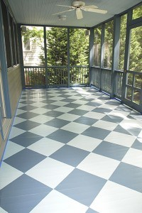 Porch Floor with Harlequin Pattern
