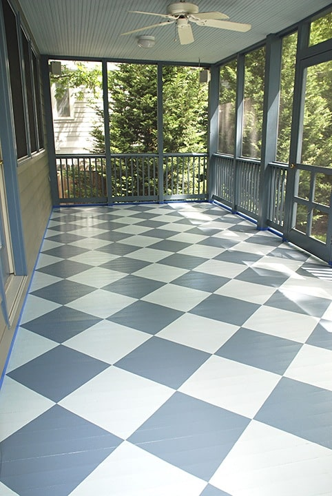 Finishes, Floor Finish, Harlequin Diamond Finish, Porch Finish, Before & After Transformations,