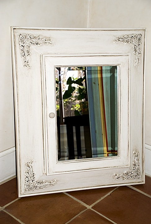 Glazed Mirrored Medicine Cabinet After Aged Treatment