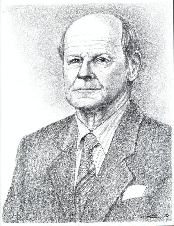 A Father's Portrait in Graphite, Fine Art, Ashley Spencer, Portrait, Graphite
