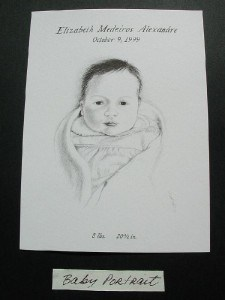 Pencilled Baby Portrait