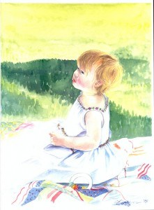 A Daughter's Portrait in Watercolor