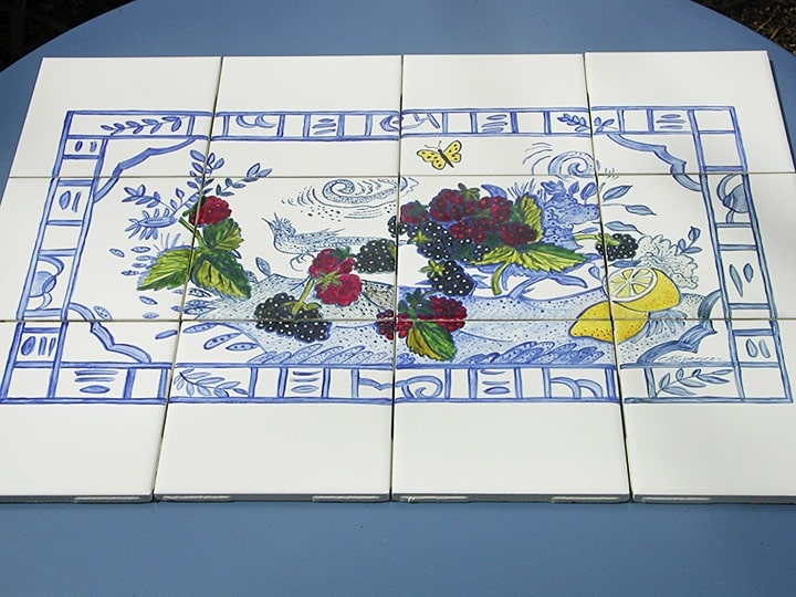 Tile China Scene--Cooktop Backsplash by Ashley Spencer